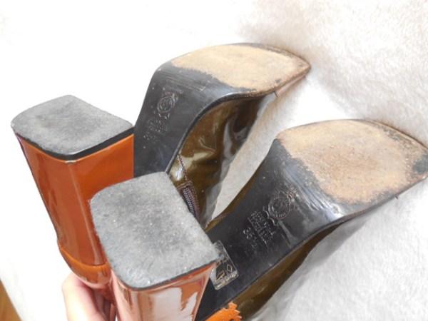 Stephanie De Raucourt Patent Leather Boots-7