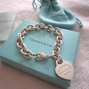 Tiffany & Co 925 Heart Charm Bracelet