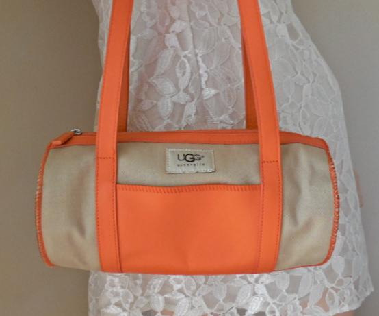 UGG Orange & Sand Papillon Handbag-6