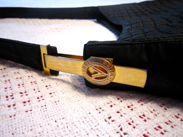 Valentino Orlandi Black Quilted Hobo Bag-3