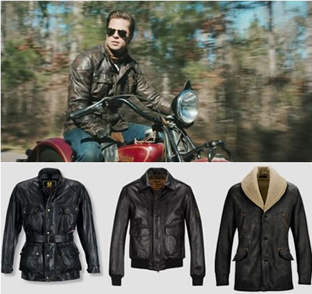 Brad Pitt's motorcycle jackets from Benjamin Button