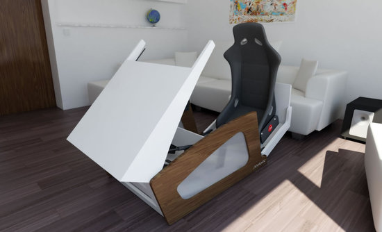 kitchen console table kitchens to go a coffee transforms into gaming cockpit for dose ...