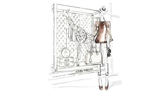 Louis Vuitton fashionable paper dolls mark partnership