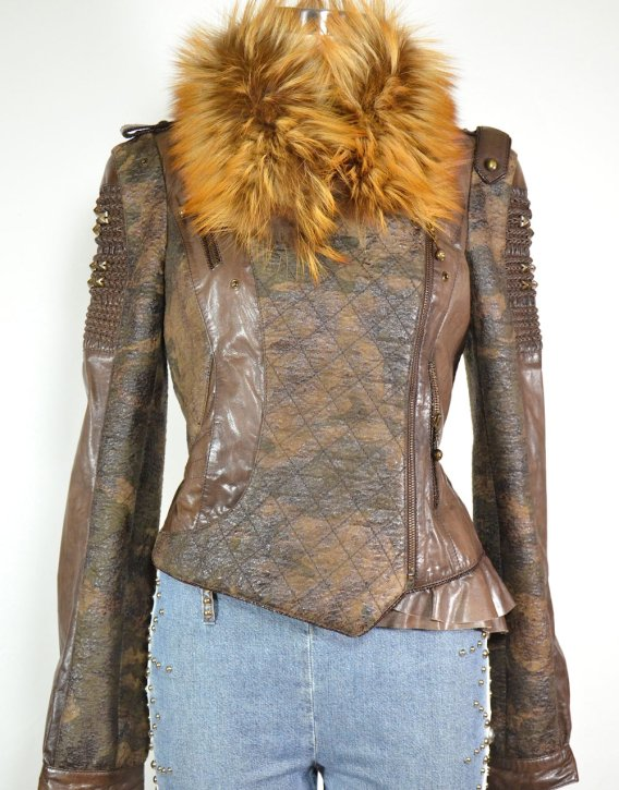 the latest d2b43 83b7a Giacca biker in pelle vintage