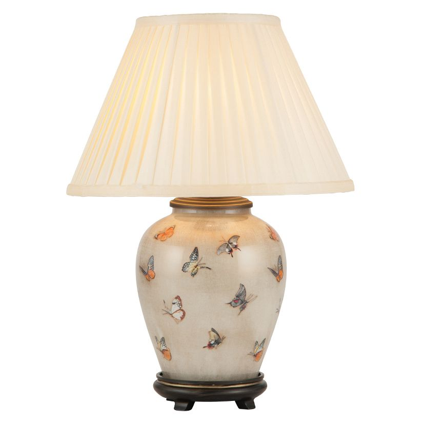 Jenny Worrall Butterlies Small Urn Table Lamp With Shade Jw72 Luxury Lighting