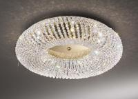 Crystal Bathroom Flush Ceiling Light