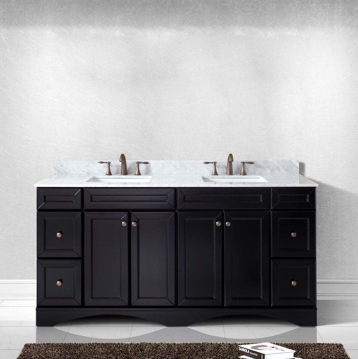 virtu usa talisa 72 ed 25072 wmsq es nm double bathroom vanity in espresso with marble top and square sink