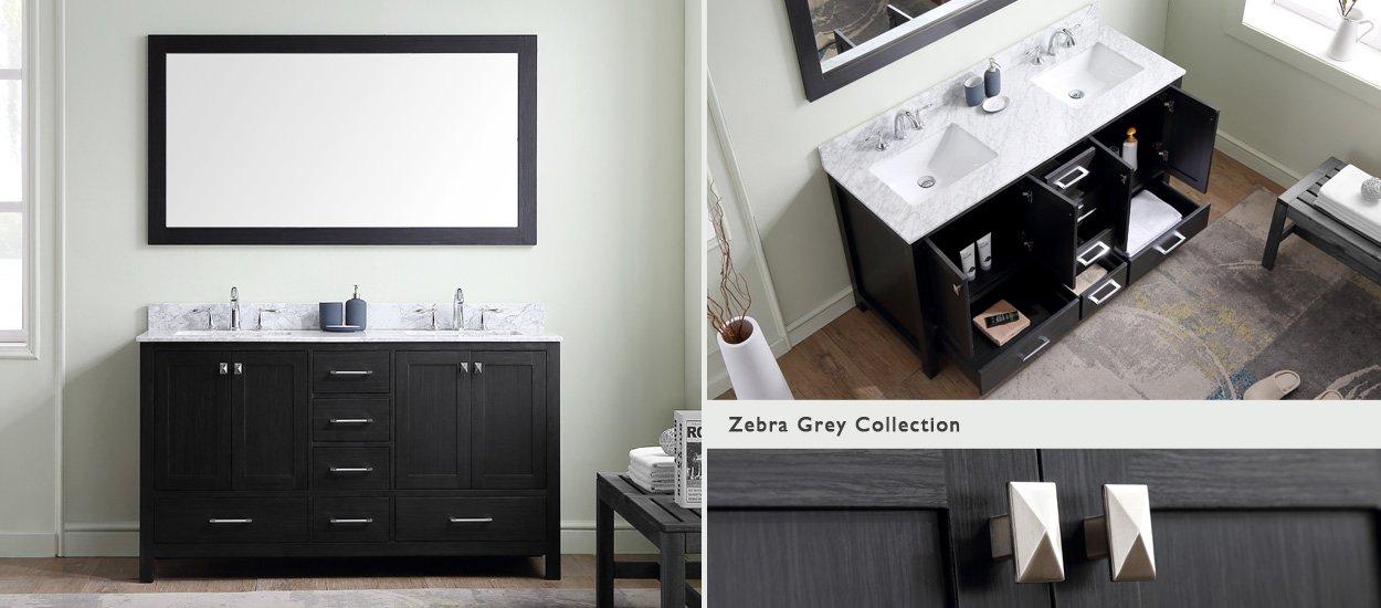 shop 55 inch double sink vanities