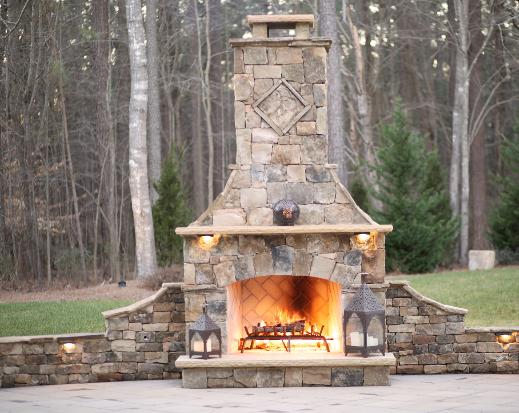 Outdoor Fireplaces Luxury Living Scapes Inc