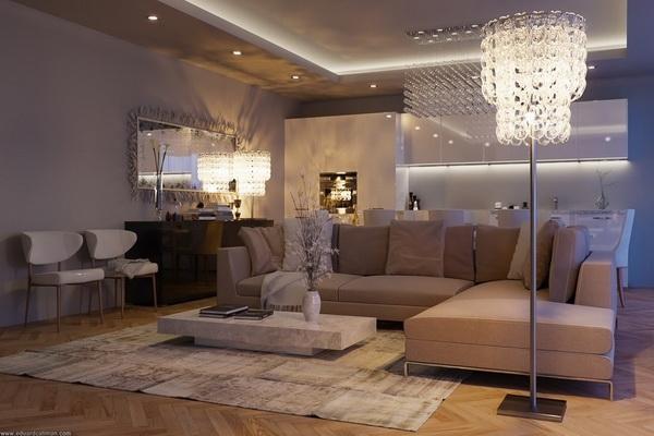 ENTERIJER DNEVNE SOBE  Luxury Montenegro