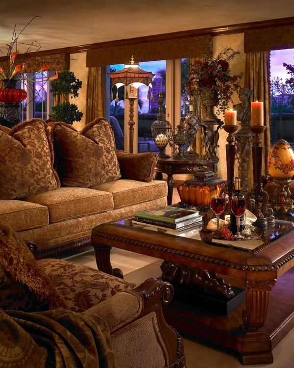 country primitive sofa tables loveseat set up luxury interior design in rich jewel tones by perla lichi ...