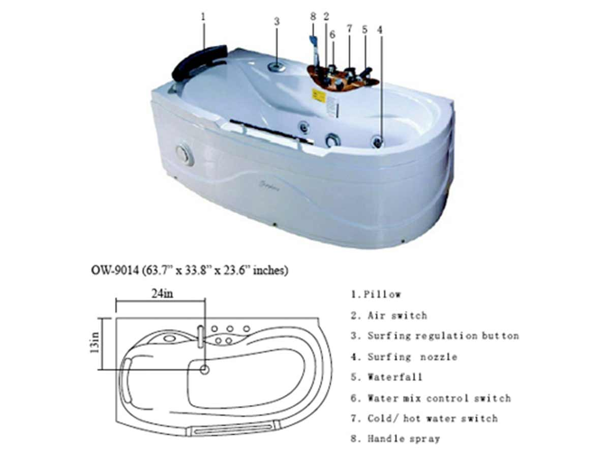 hight resolution of ow 9014 jetted tub schematic