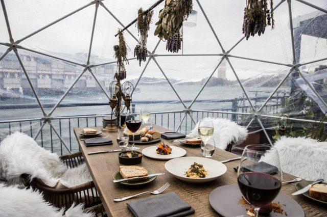 The Gantry & Pier One Truffle Tasting in an Igloo