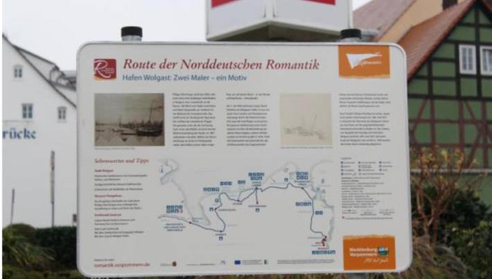 nfotafeln für die Route der Norddeutschen Romantik