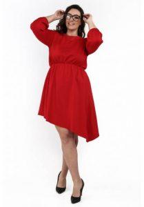 fasardi šaty asymetrické červené