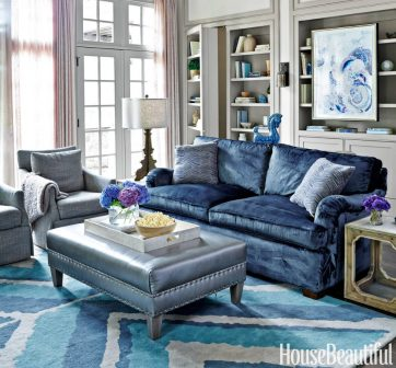 living room color schemes with navy blue lake house decorating ideas 6 ways to use the trendy and gold scheme
