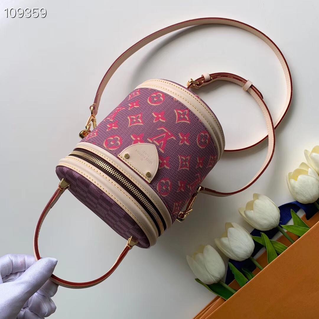 ID.171640 M43986-re-l LV 官網新色老花圓筒斜背包 手柄提供多種攜帶方式 實在非常的方便