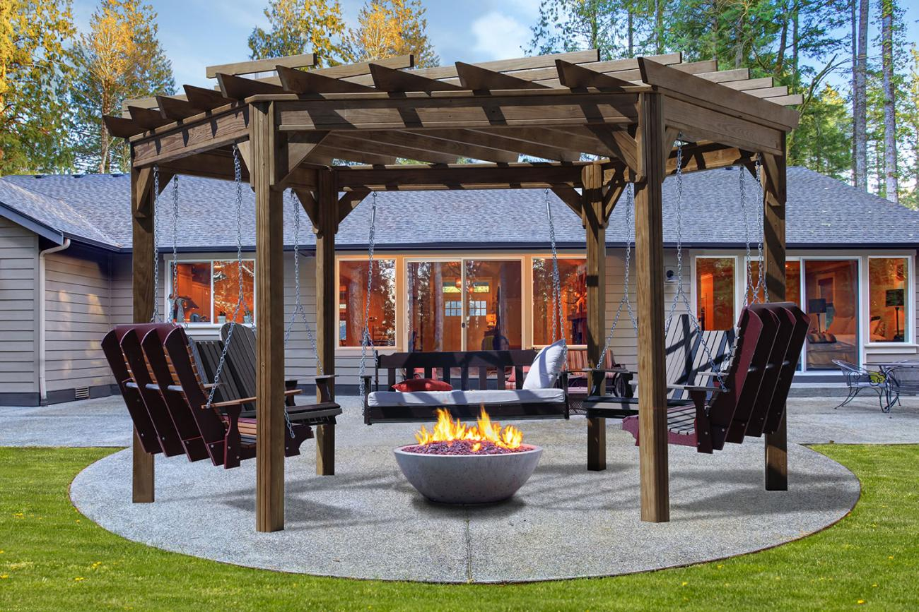 Swing Gola Lykens Valley Gazebos And Outdoor Living Products