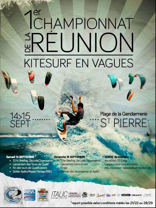 Championnat kitesurf Réunion