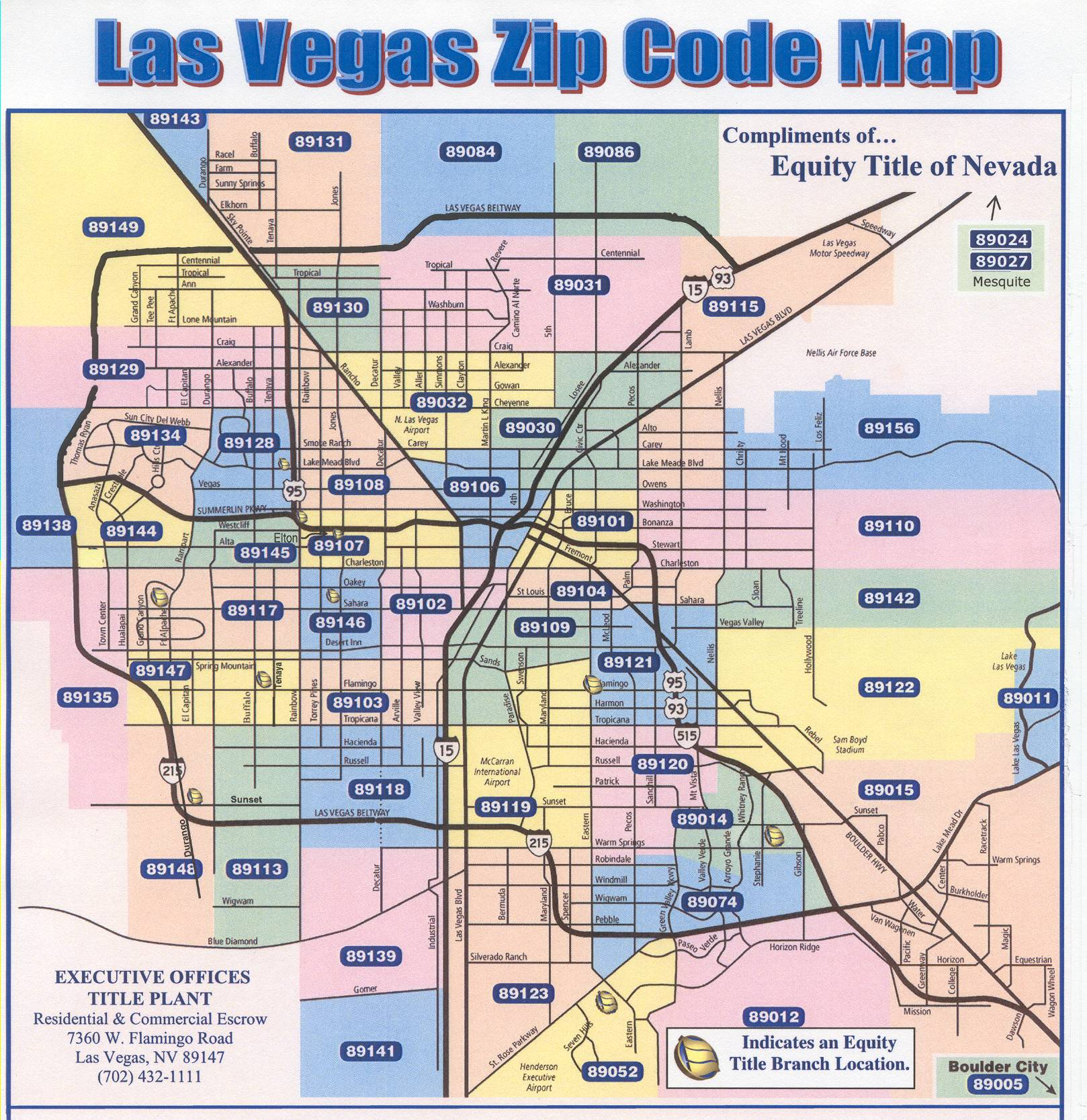 Henderson Nevada Zip Code Map