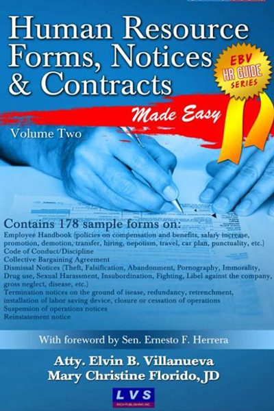 human resource forms  notices and contracts vol  2