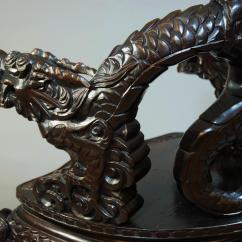 Antique Chinese Dragon Chair No Gravity Pair Of Heavily Carved Chairs In Sold Archive