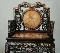 Chinese Qing dynasty inlaid hongmu chair in SOLD ARCHIVE