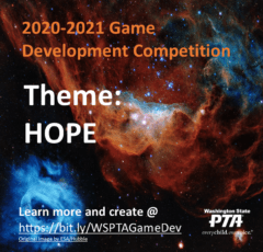 2020-21 Game Development Competition Theme is HOPE