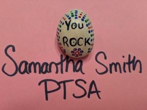 Samantha Smith Elementary PTSA You Rock award