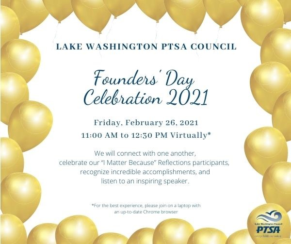 Founders' Day Celebration 2021 graphical invite.