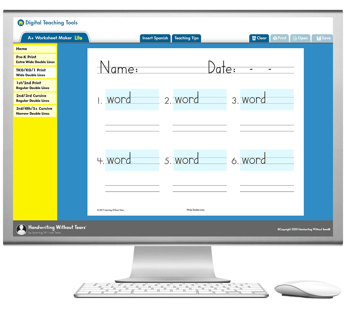Handwriting Amp Cursive Worksheet Generator A Worksheet Maker