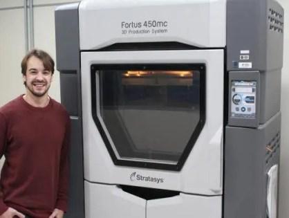 Impressão 3D de Nylon com fibra de carbono é realizada pela primeira vez pela GE Aviation
