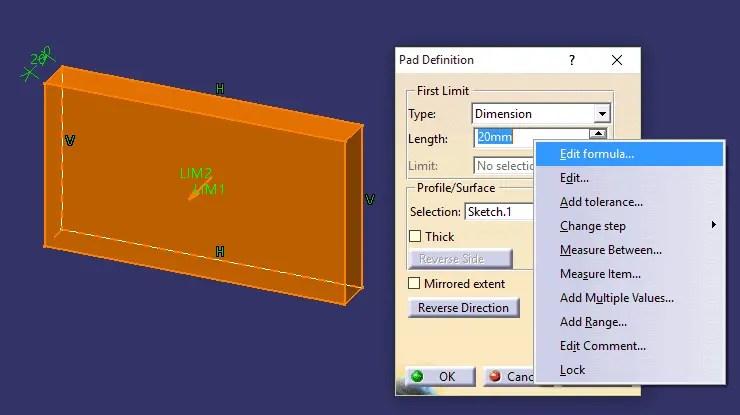 Dica Catia V5 - Criação de formulas