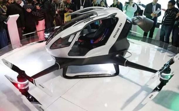 Drone gigante, capaz de transportar seres humanos