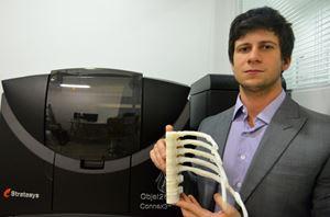 BioArchitects gera próteses e biomodelos com ajuda da Objet260 Connex3, a impressora 3D multimateriais colorida da Stratasys