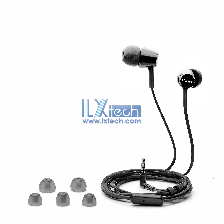 Sony MDR-EX155AP In-Ear Headphones with Mic (Black)