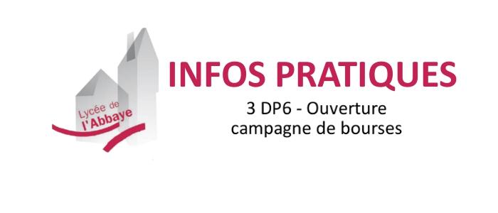 3 DP6 – Campagne de BOURSES