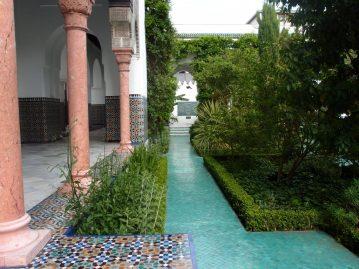 Jardin style andalou de la Grande mosquée de Paris