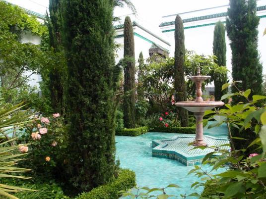 Jardin de style andalou de la Grande mosquée de Paris