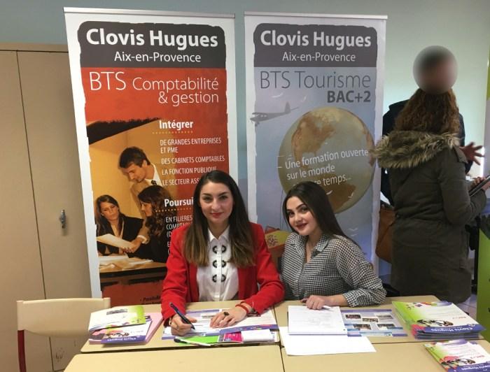 forum groupe scolaire la Nativité Aix-en-Provence, stand Lycée privé Clovis Hugues