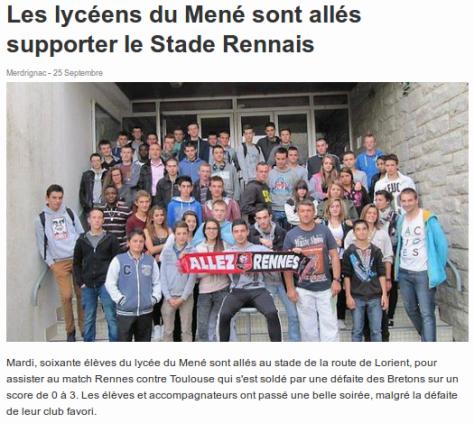 Ouest-France du 25 septembre 2014