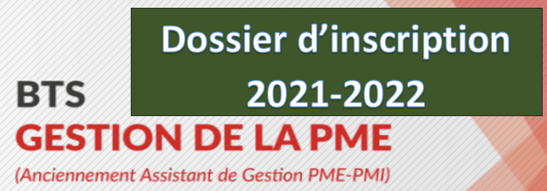 Read more about the article Dossier d'inscription BTS Gestion des Petites et Moyennes Entreprises (GPME)