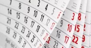 Calendrier des examens session 2018