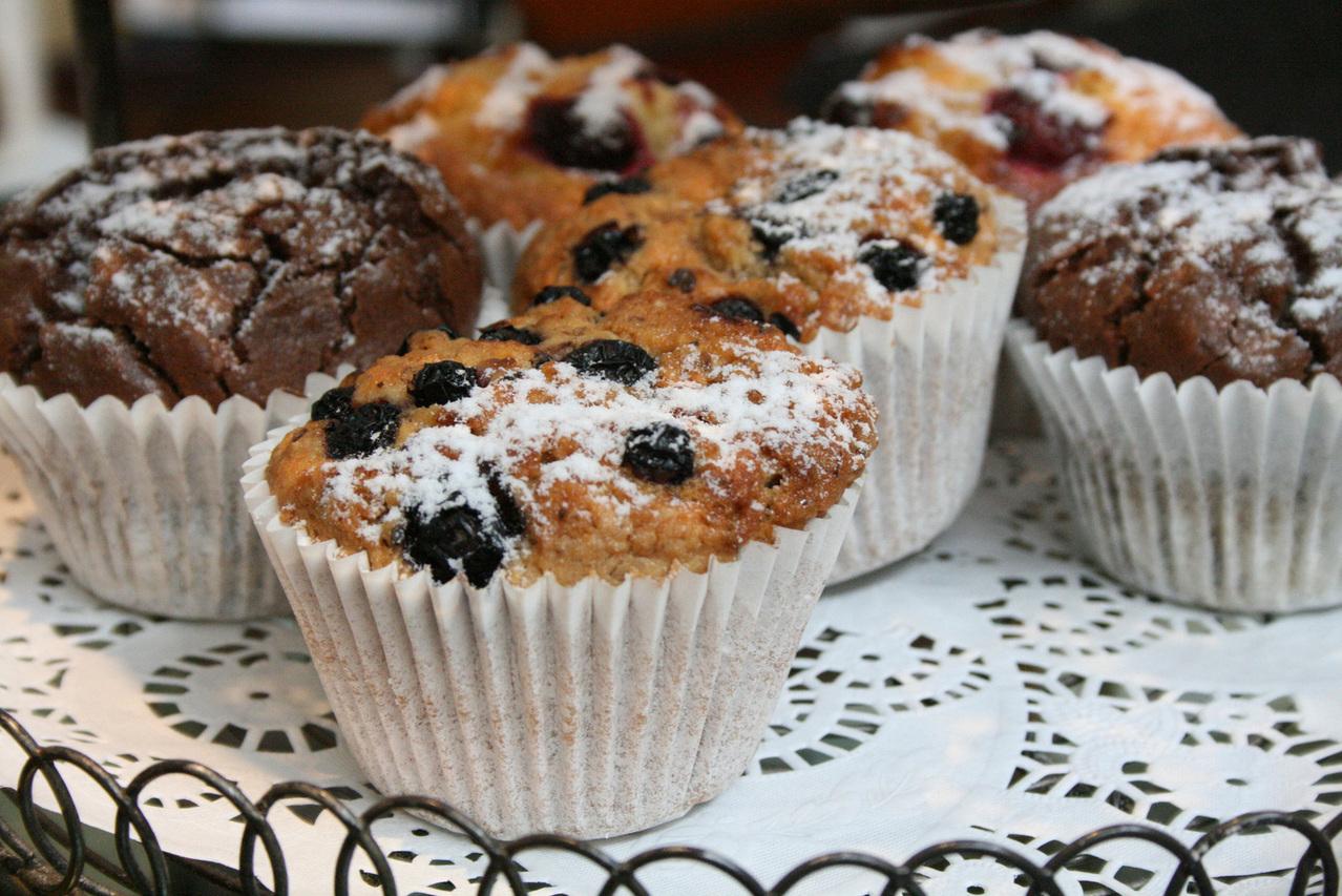 goda muffins med fyllning