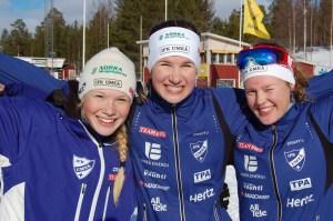 Medaljtjejerna Jonna, Mimmi och Elina