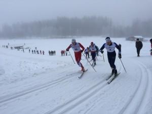 Marcus Grate krigar om ledningen i semifinalen med Petter Nilsson