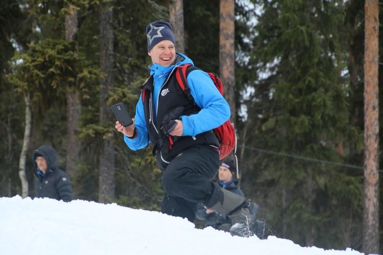 Banchefen Petter är nöjd med spåren och åkarnas insatser