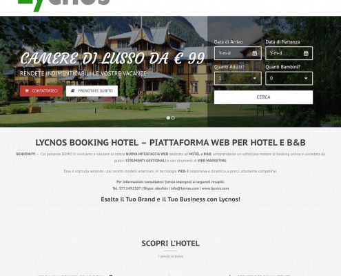 Booking Hotel LY - Demo Website - by Lycnos
