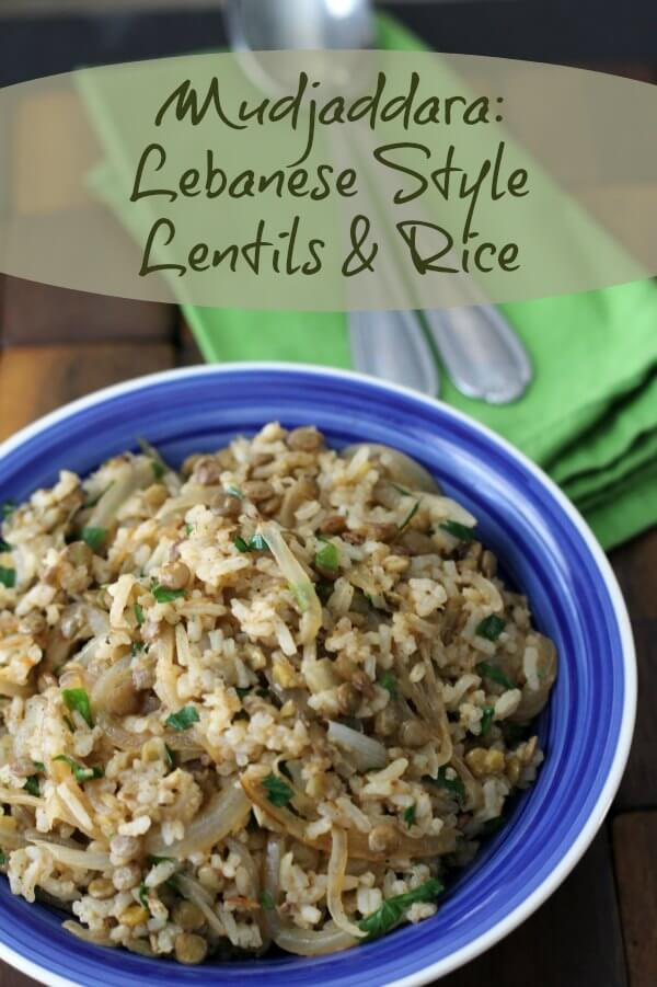 Mudjaddara: Lebanese Style Lentils and Rice ~ Lydia's Flexitarian Kitchen