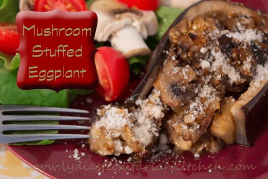 Mushroom Stuffed Eggplant Recipe